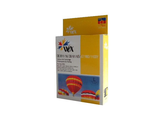 Compatible Brother LC38Y (LC67Y) Yellow ink cartridge